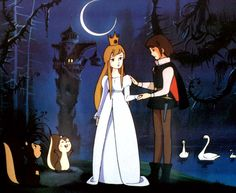 Princess Odette & Prince Siegfried from Swan Lake 1981 Non Disney Princesses, Beautiful Swan, Disney Animated Movies, Gothic Anime, Retro Cartoons, Vintage Drawing, Swan Lake, Disney Animation, Pictures To Draw