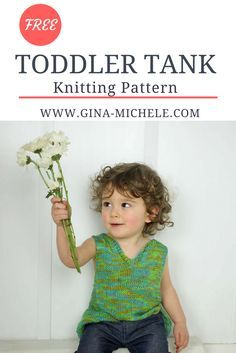 FREE Toddler Tank Top knitting pattern. Great for beginners!