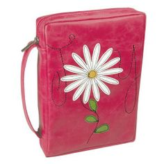 Flower Applique Joy Bible / Book Cover - Psalm 16:11  Price : $19.99 http://www.veritasgifts.com/Flower-Applique-Bible-Book-Cover/dp/B009NW2HNY Pretty in Pink! That's what you'll be, sporting this leather-look, flower appliqued and quilt-stitched Bible / Book Cover.