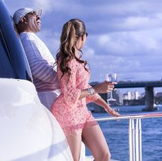 Marjorie Harvey was spotted on a yacht in Miami with her hubby Steve Harvey, for his 58th birthday celebration. Description from simplyglamorousfashion.net. I searched for this on bing.com/images