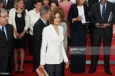 Queen Letizia of Spain (C) attends the Red Cross World Day Commemoration at the Miguel Delibes auditorium on May 8, 2015 in Valladolid, Spain.