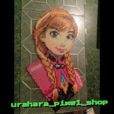 Princess Anna - Frozen perler beads by urahara_pixel_shop
