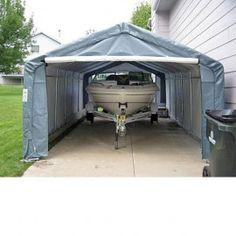1000 images about portable garage on pinterest building for Garage boat storage