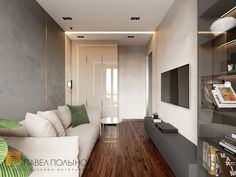 Фото: Интерьер комнаты для гостей - Квартира в стиле минимализм, ЖК «Смольный парк», 103 кв.м.