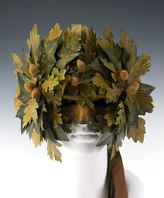Greenman Hafl Mask by TheArtOfTheMask on Etsy,