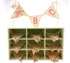 Christening Gifts And Presents For Girls : Vintage Floral Bunting