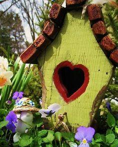 Heart on a birdhouse