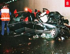 8diana9_468x358.jpg The full extent of the catastrophic crash is clear from this angle. Firemen have cut open the roof to free the Princess and Rees-Jones and remove the bodies of Henri Paul and Dodi Fayed