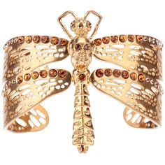 ALEXANDER MCQUEEN dragonfly cuff ($695) ❤ liked on Polyvore