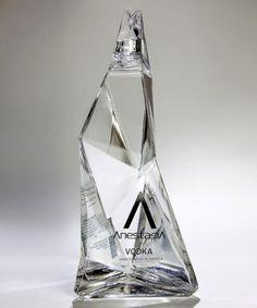 Vodka bottle incorporates art and design in its packaging Alcohol Bottles, Liquor Bottles, Bottles And Jars, Glass Bottles, Drink Bottles, Vodka Bottle, Drinks Logo, Vodka Drinks, Alcoholic Drinks