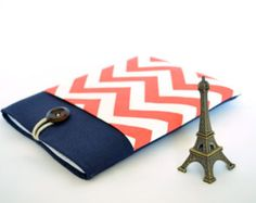 Laptop Case 13 inch Laptop Sleeve MacBooks, Ultrabooks - Coral and Navy