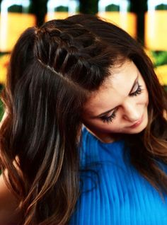 Nina Dobrev's Unicorn Braid Is Pure Magic #refinery29