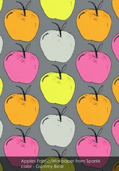 Apples from Sparkk in Gummy Bear Pineapple Punch, Fruit Punch, Gummy Bears, Fabric Wallpaper, Apples, Blog, Art, Art Background, Alcoholic Fruit Punch