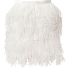 Stars By Jonas Hallberg Hayden Feather Skirt (10.055 RUB) ❤ liked on Polyvore featuring skirts, mini skirts, bottoms, saias, suknje, white, white feather skirt, feather skirt, white skirt and feather mini skirt