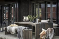 Scandinavian Cabin, Outside Room, Modern Rustic Homes, Cabin Interiors, Tiny House Cabin, Outdoor Rooms, Wooden Cabins, Home Fashion, Home Remodeling