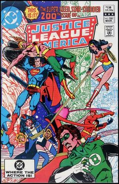 George Perez -- my all-time favorite JLA comic. Issue 200.