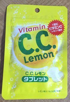 Lotte, CC Lemon Tablet Candy, 24g, Japanese Candy, S7 #Lotte
