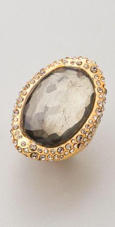 Alexis Bittar Crystal Encrusted Ring.