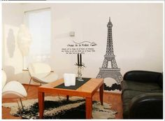 Free Shipping New design Vinyl Wall Stickers Eiffel Tower Home decoration Wall decals for Kids Nursery Living Rooms