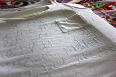 Write on a shirt with clear elmers glue gel and then dye it.  The words will stay white..would be great to make for bridesmaids and bride