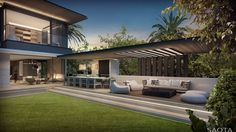 AU Bay 75: Overlooking a sheltered bay within Sydney's world famous natural harbour, this family home efficiently creates private, sheltered spaces for...