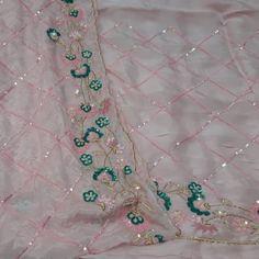 Elegant Bridal Saree Wedding Dresses 19 Ideas For 2019 Bridal Shower Cupcakes, Tea Party Bridal Shower, Bridal Shower Rustic, Embroidery Suits Design, Hand Work Embroidery, Indian Embroidery, Embroidery Patterns, Bridal Lehenga, Saree Wedding