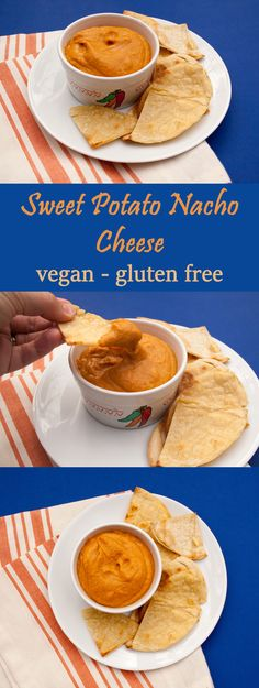 Sweet Potato Nacho Cheese - This works well as a dip, slathered on nachos, or used in a taco salad.