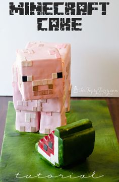 Im Topsy Turvy: Minecraft Birthday Cake Tutorial