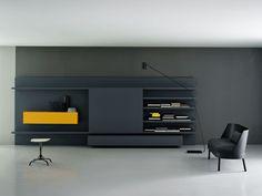 Mueble modular de pared modular MODERN Colección Modern by Porro   diseño Piero Lissoni