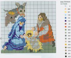 Nativity (part 4) free cross stitch pattern from www.coatscraft.pl