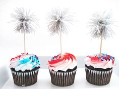 Two Shades of Pink: DIY 4th of July Sparkler Cupcake Picks : Good Living Magazine Project 2