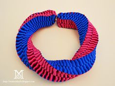 statement necklace diy, ribbon necklace diy, how to, jewelry making, how to, color block necklace, mobius necklace
