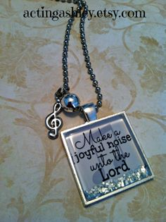 SALE-Make a Joyful Noise Necklace Music G-Clef Charm