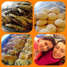 Dolmalar kurabiyeler börekler