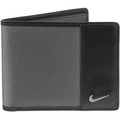 Men's Nike Bifold Wallet ($34) ❤ liked on Polyvore featuring men's fashion, men's bags, men's wallets, grey, bi fold mens wallet, mens bifold wallet, mens credit card holder wallet and mens wallets