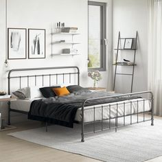 Vintage and classic, the DHP Brooklyn Panel Bed is just what any child's bedroom needs. This panel bed has a curved headboard and footboard with a sturdy. Grown Up Bedroom, Master Bedroom, Dream Bedroom, Twin Platform Bed, Bed Dimensions, Twin Bunk Beds, Bed Slats, Headboard And Footboard, Metal Beds