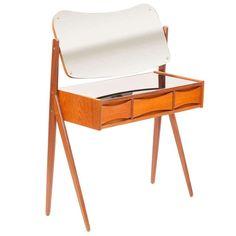 1950's Mirror Top Vanity Table attr. Arne Vodder | 1stdibs.com