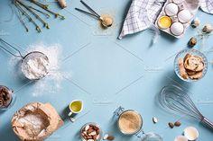 Baking or cooking background by Iuliia Leonova on @creativemarket