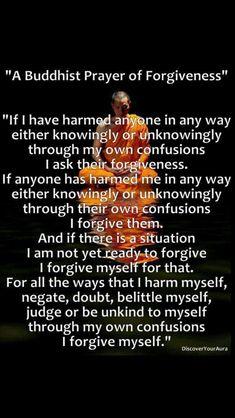 Buddhist prayer of forgiveness