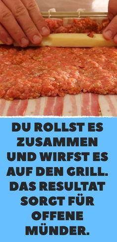 You roll it up and throw it on the grill. Das Resultat sorgt für offen… You roll it up and throw it on the grill. The result ensures open mouths. Barbecue Recipes, Grilling Recipes, Smoker Recipes, Meatloaf Recipes, Meat Recipes, Cooking Meatloaf, Smoked Mac And Cheese, Mac Cheese Recipes, Smoker Cooking
