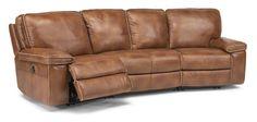 Flexsteel Furniture: Reclining Sectionals: PentaLeather Power Reclining Sectional (1493-Sect)