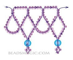 Free pattern for beautiful beaded necklace Alexia