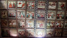 The Romanesque painted wooden ceilings in the St Martin's Church in Zillis, Graubünden in Switzerland, is one of very few to have been preserved in Europe. St Martin, Wooden Ceilings, Romanesque, Art History, Saints, My Arts, Mosque, Painting, Switzerland