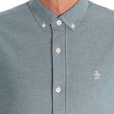 Original Penguin Blue Oxford Shirt www.ark.co.uk #penguin #oxford #shirt #blue #mens