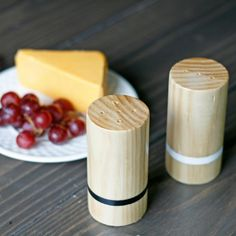 DIY Wood Salt and Pepper Shakers