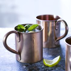 Our traditional copper mugs make the perfect vessel for cold beverages. Drink in style from either a matt or shiny finished Moscow mule mug, originally used for the famed cocktail of Vodka, ginger beer and lime. Copper Moscow Mule Mugs, Copper Mugs, Copper Table, Slushies, Outdoor Fotografie, Vintage Home Accessories, On The High Street, Al Fresco Dining, Terracotta Pots