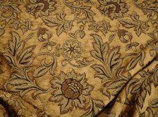 Bergamo chenille floral on beige, brown, black