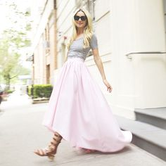 looks beautiful in our pink drop hem ball skirt 💗💗💗 🙌 Ball Skirt, Dress Skirt, Midi Skirt, Maxi Dresses, 30th Birthday Dresses, Casual Chic, Spring Summer Fashion, Long Hair Styles, My Style