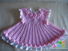 Pink Roses Dress free crochet graph pattern