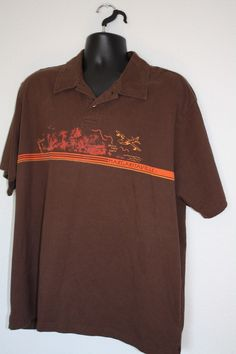 c727405c Jimmy Buffett Margaritaville polo shirt brown size XL #Margaritaville  #PoloRugby Jimmy Buffett Margaritaville,